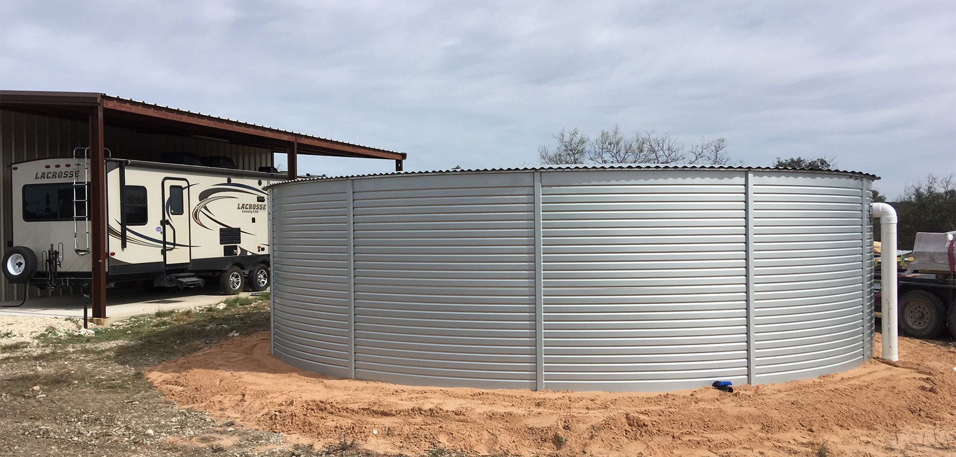 Tanks Alot selling Pioneer Water Tanks for Texas water storage