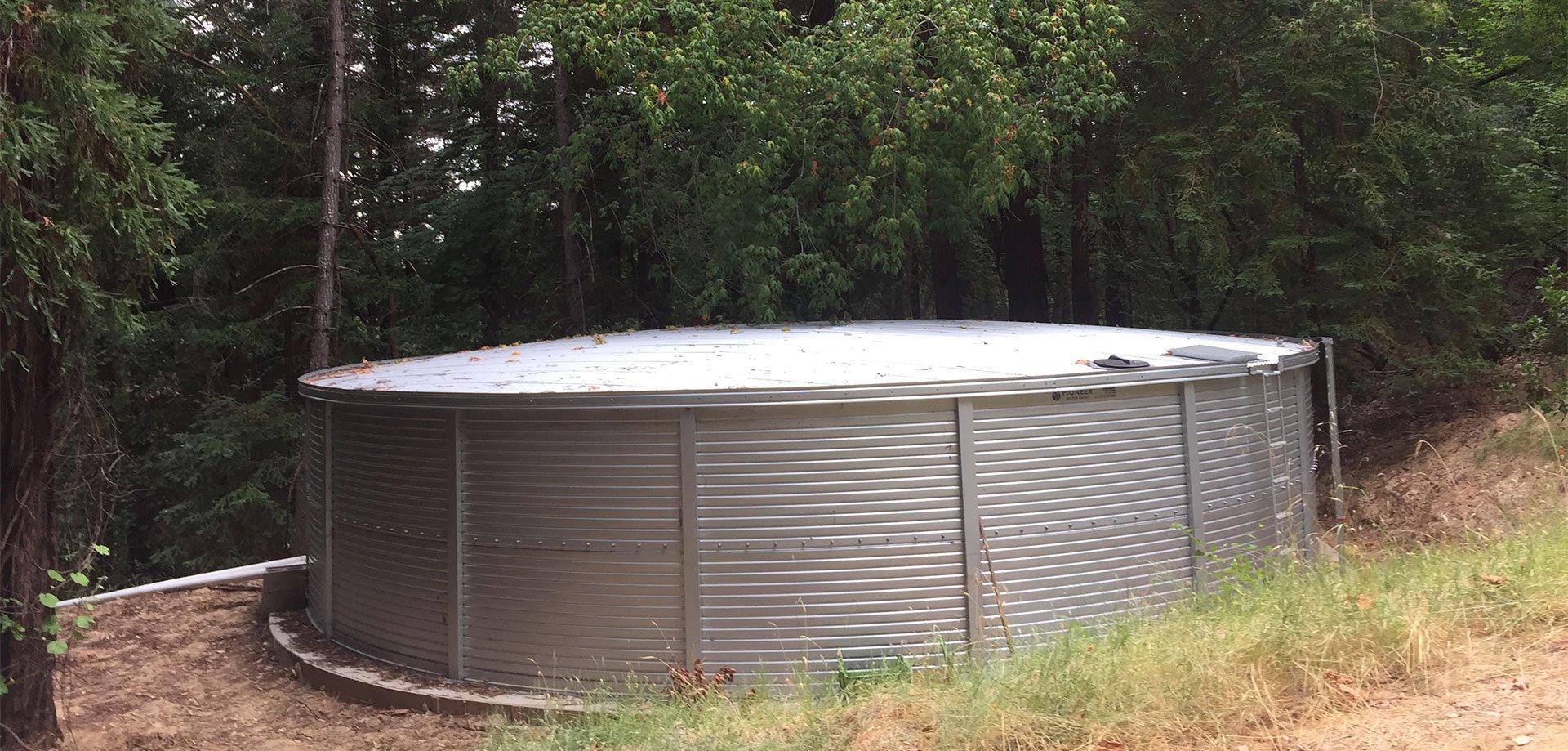 Pioneer Water Tanks Grant Lane Construction in Healdsburg