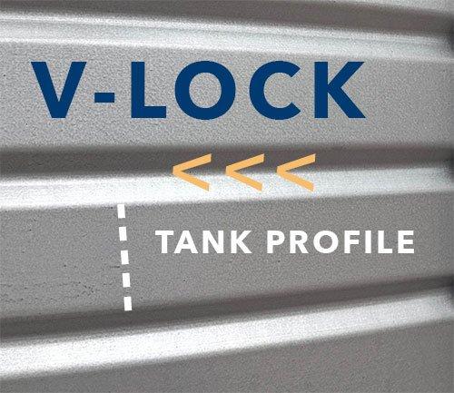 V Lock Pioneer Water tanks profile