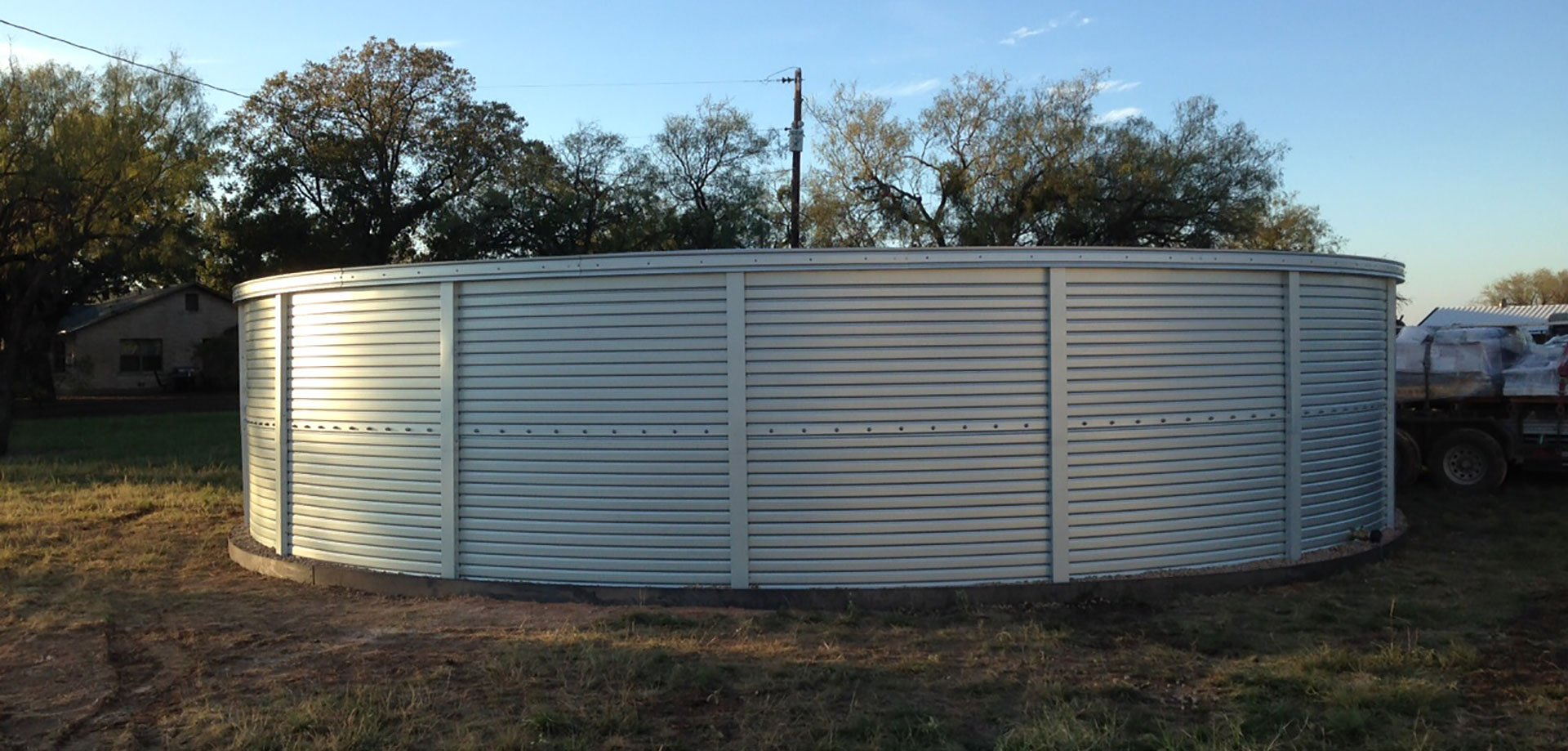 All Tex Irrgiation and Supplies Pioneer Water Tanks for ranch water storage