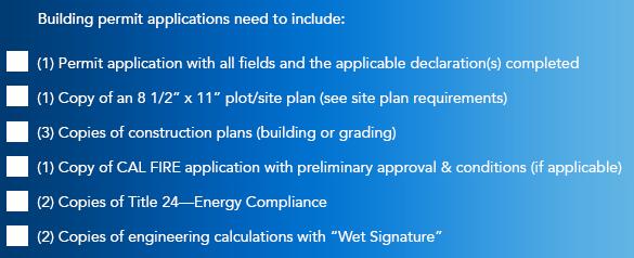 Mendocino County rebuilding checklist