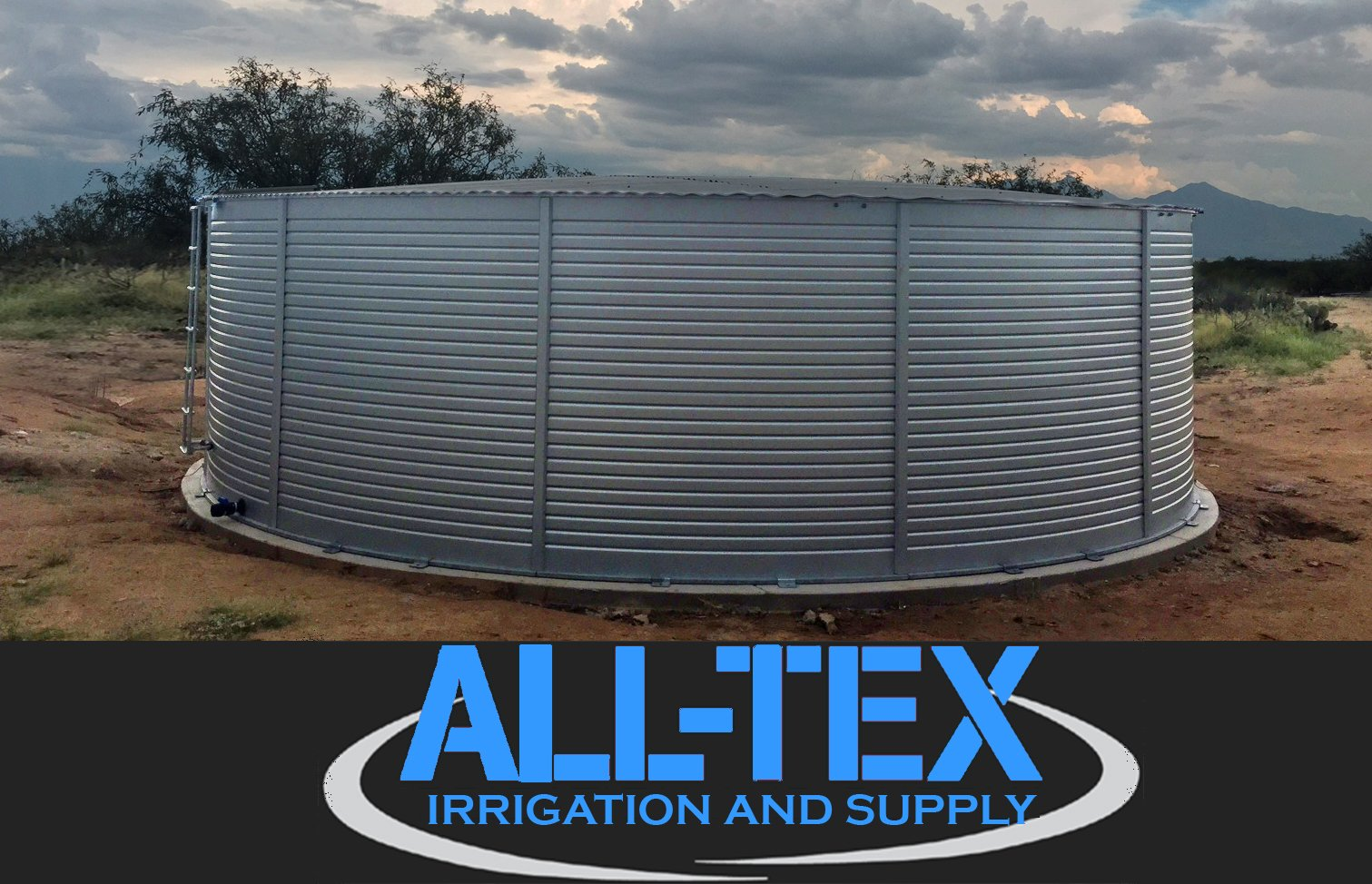 All Tex Irrigation & Supply water storage tanks in Texas