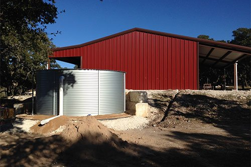 9,907-Gallons Capacity for Rainwater Collection