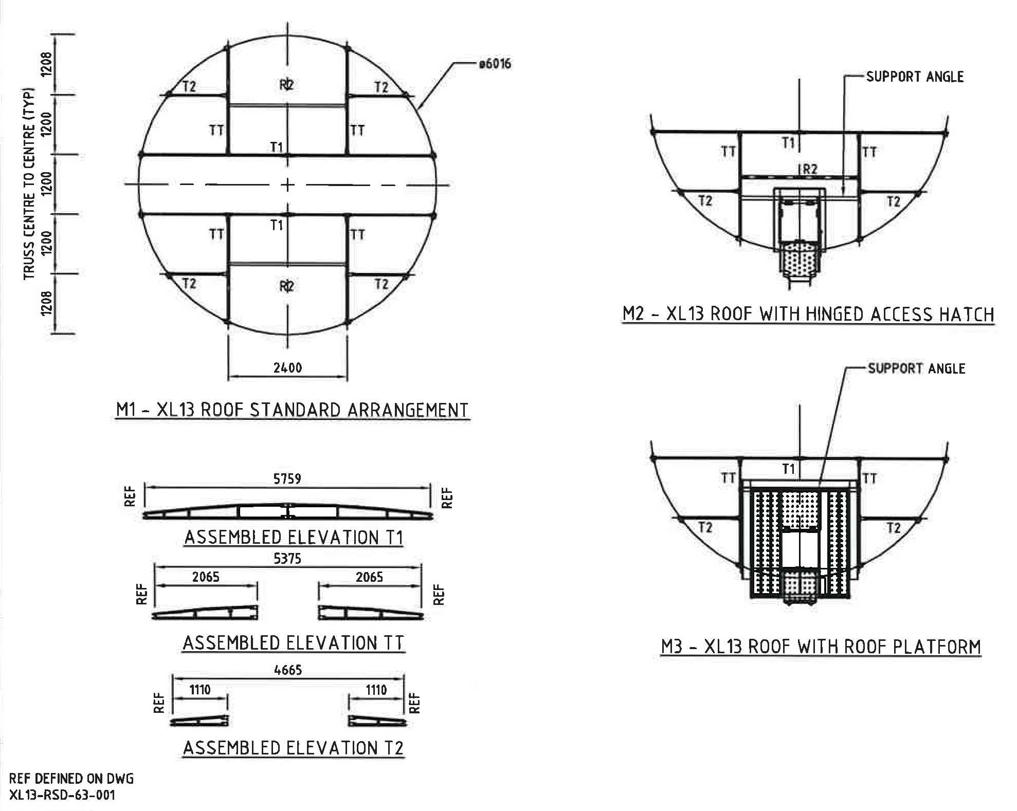 We offer complete engineering packages and water tank roof plans for Pioneer Water Tanks.