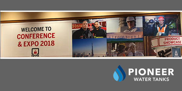 Pioneer Water Tanks America at the NFPA 2018 Conference