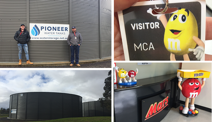 The Pioneer Water Tanks Project at the Mars Confectionery in Ballarat Australia by Specialised Tank Services