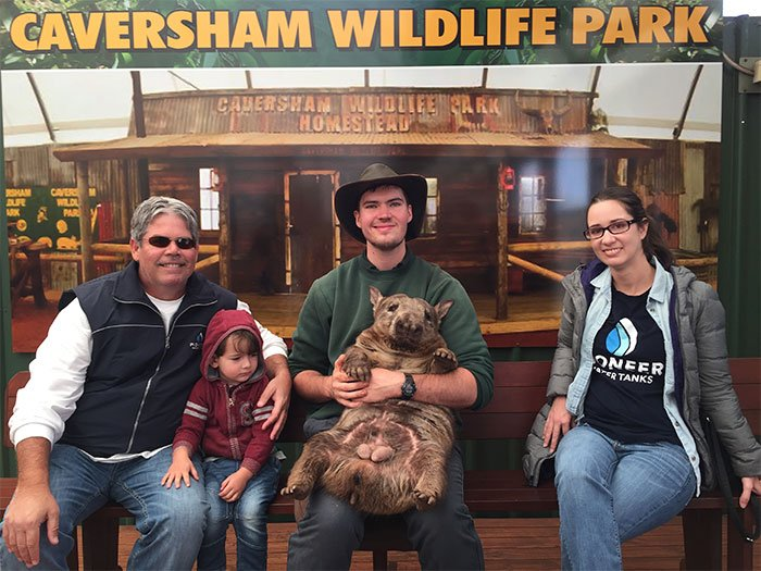 Richard Dunfield and Jessica Huntington at the Caversham Wildlife Park