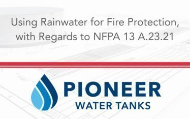 Using Rainwater for Fire Protection According to NFPA