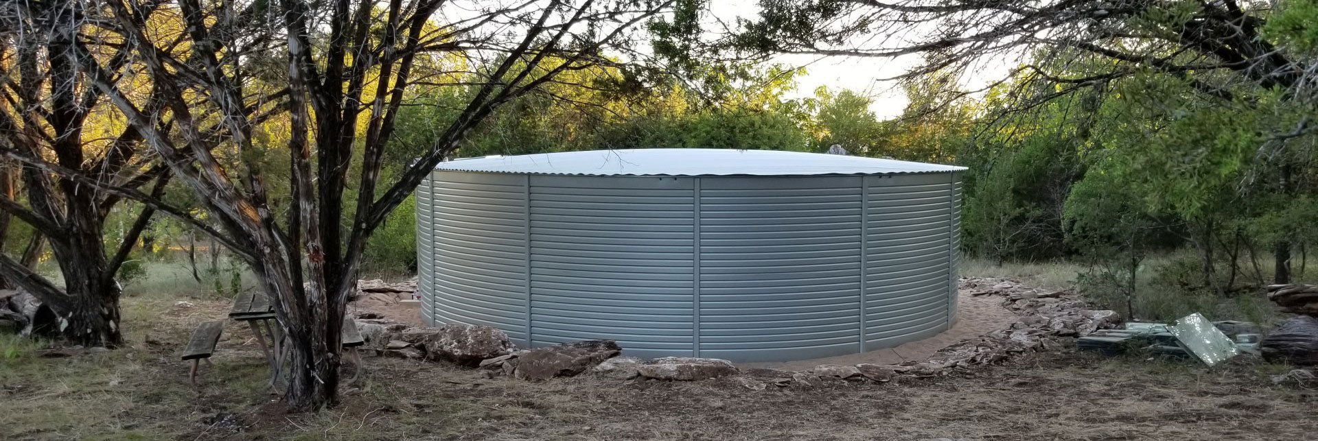Harvested Rain Solutions provided rainwater system in Wimberley
