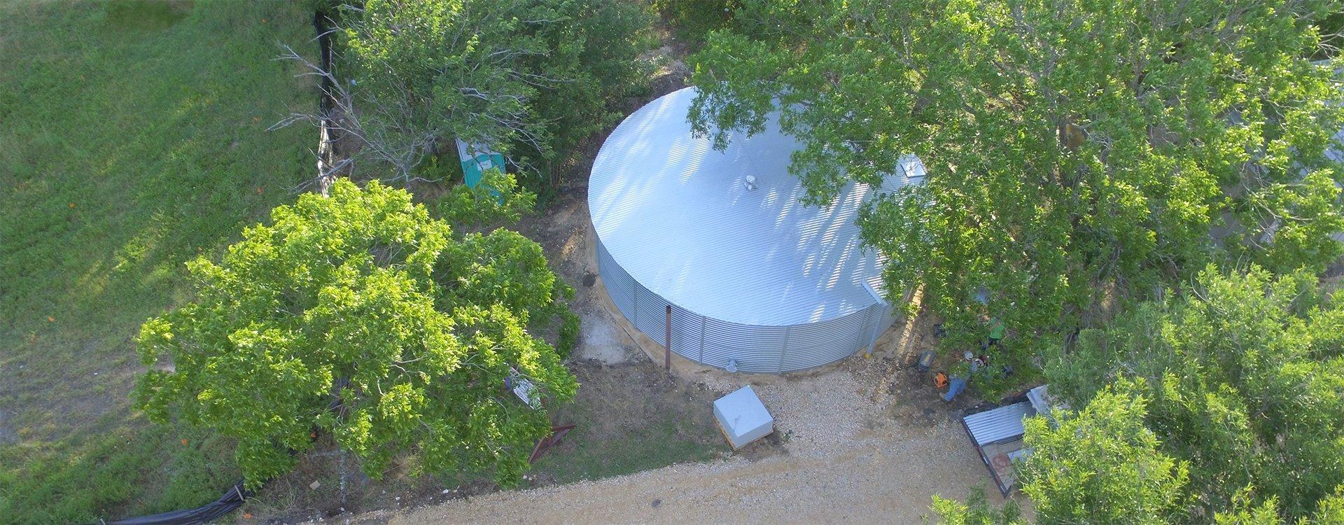 Texas Pioneer Water Tanks system aerial