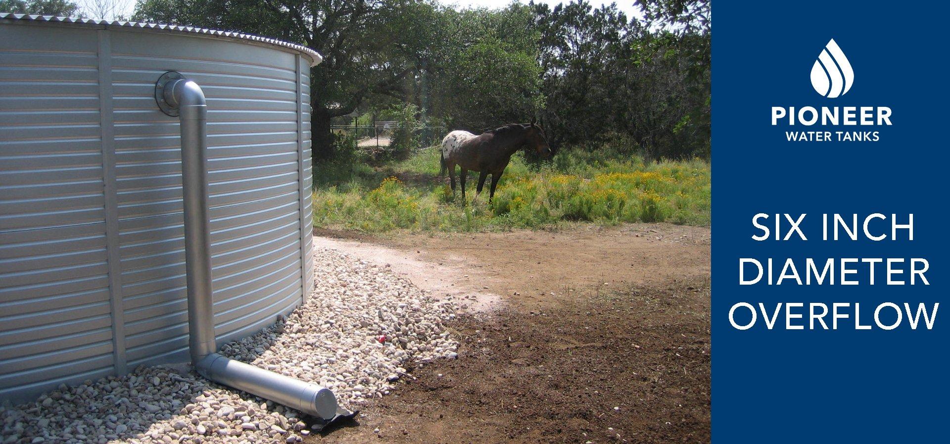 Pioneer Water Tanks six inch overflow