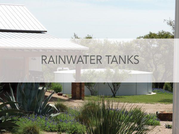 Rainwater tanks with Pioneer Water Tanks