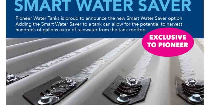 Pioneer Water Tanks New Option to Add Smart Water Savers Increases Rainwater Collection