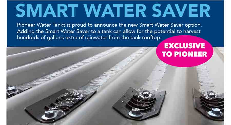 Smart Water Savers with Pioneer Water Tanks