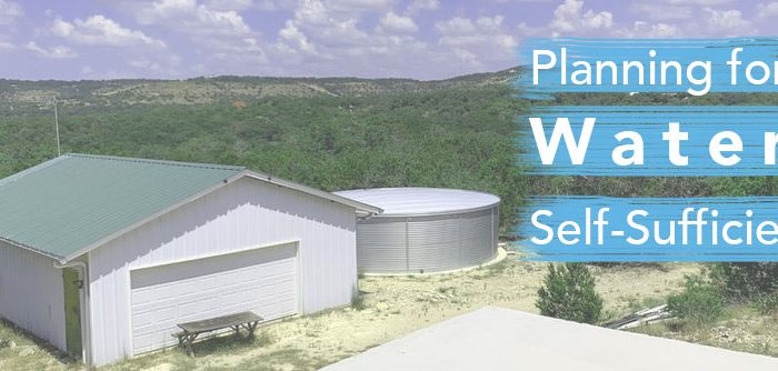 Planning for Water Self Sufficiency with a Large Capacity Pioneer Water Tank