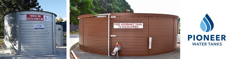 Pioneer Water Tanks in Australia provide water storage solutions for fire protection