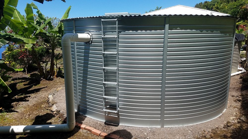 Pacific Blue Catchment rainwater system with a Pioneer Water Tank