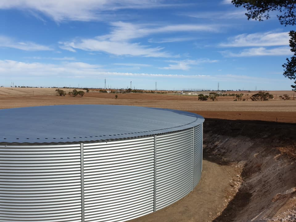 Pioneer Water Tanks with Smart Water Savers installed for rainwater collection