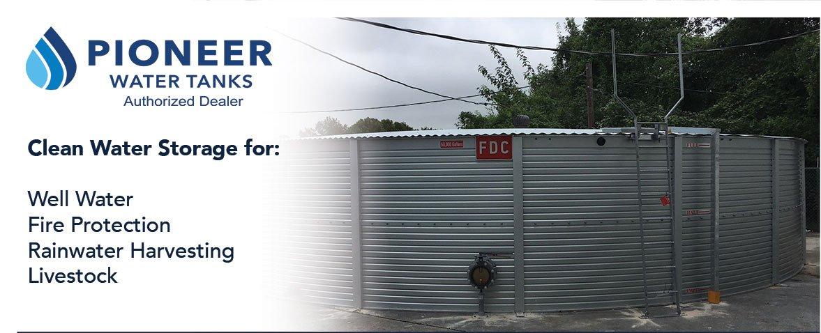 Rainwater Equipment provides Pioneer Water Tanks