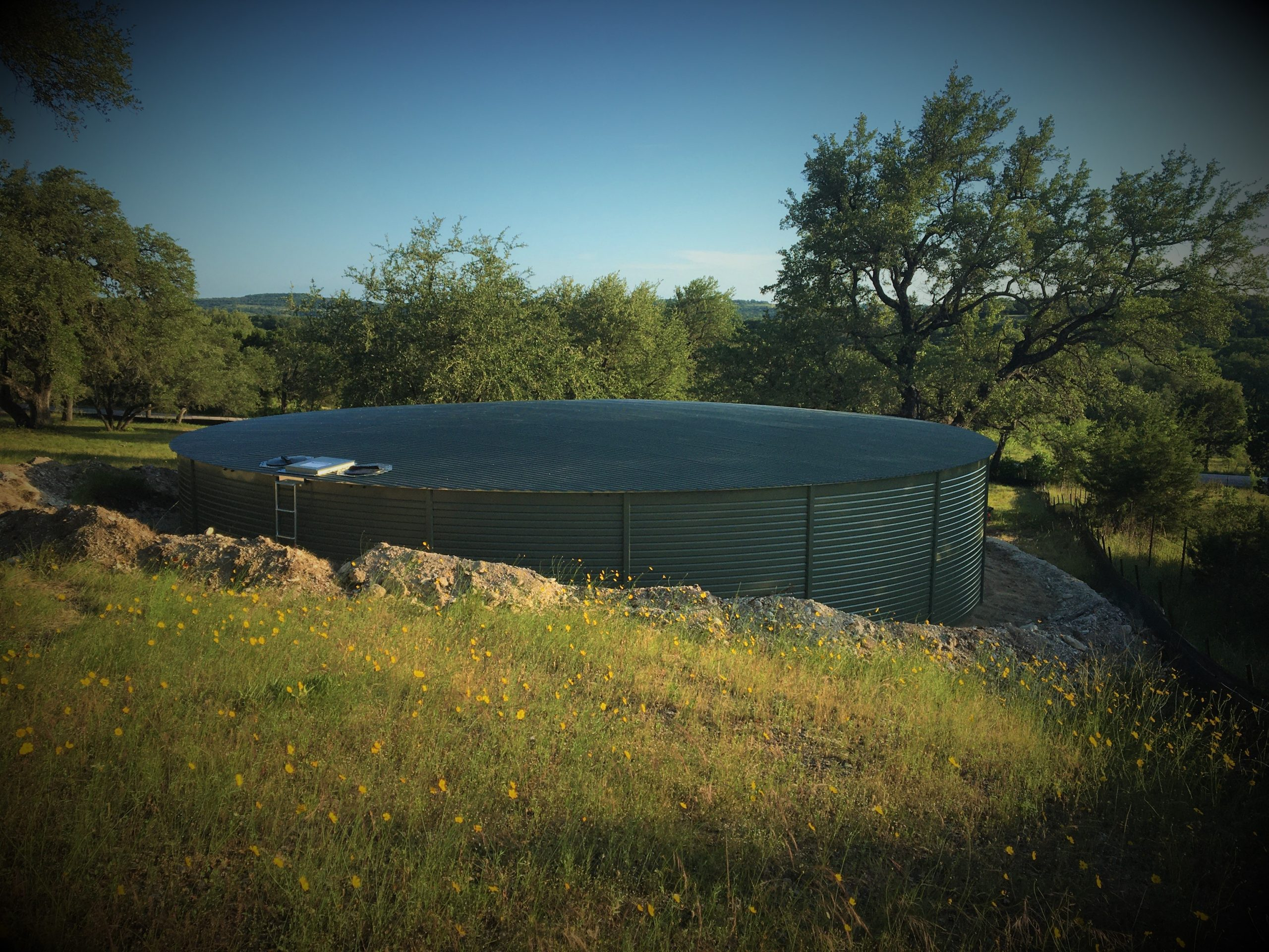 Lakota Water Company rainwater harvesting system with a Mangrove Pioneer Water Tank
