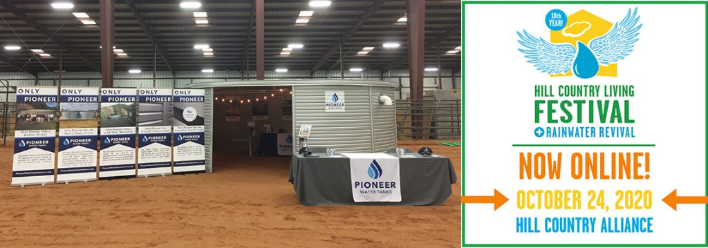 Hill Country Alliance Rainwater Revival 2020 with Pioneer Water Tanks America