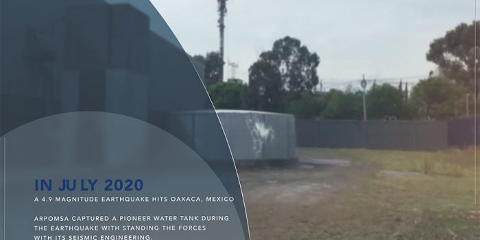 Oaxaca Mexico Earthquake Footage Captures a Pioneer Water Tank by APROMSA