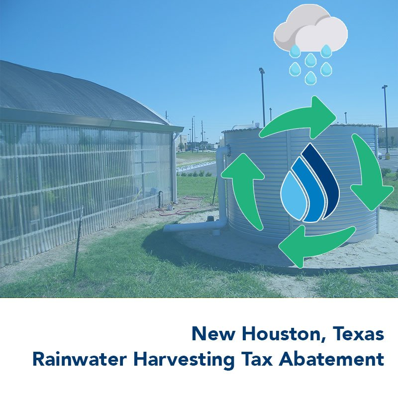 New Houston Texas rainwater harvesting with Pioneer Water Tanks