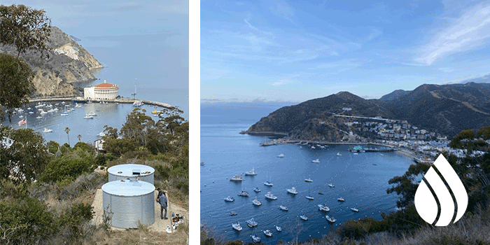 Catalina Island Pioneer Water Tanks Clean and Consistent Water Storage