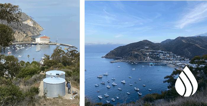 Catalina Island Pioneer Water Tanks