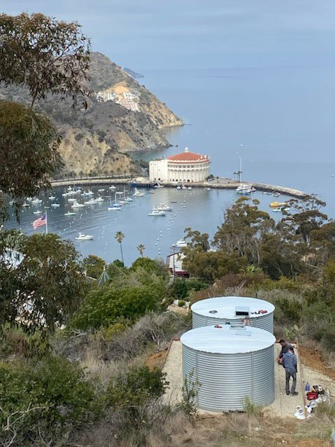 Pioneer Water Tanks America installation on Catalina Island