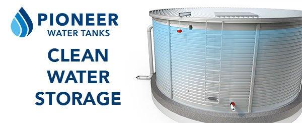 Clean water storage tanks